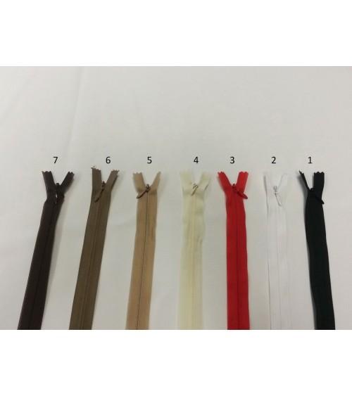 Hidden zippers
