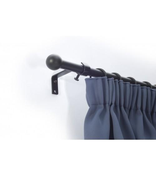 Fekete acél hajlított szimpla tartó