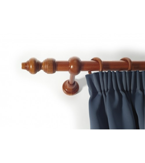 Cherry wood valance set