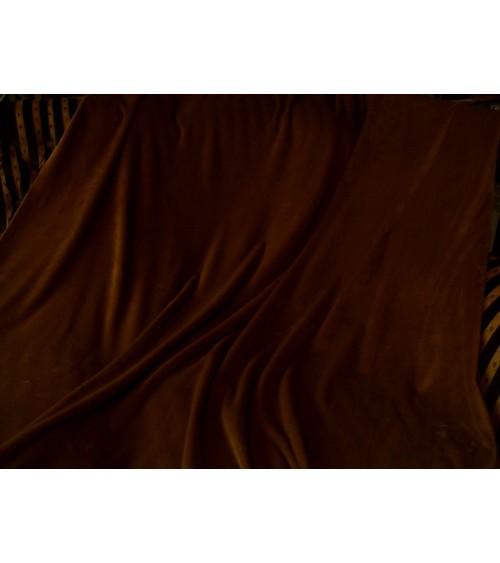 Brown blue bedcover