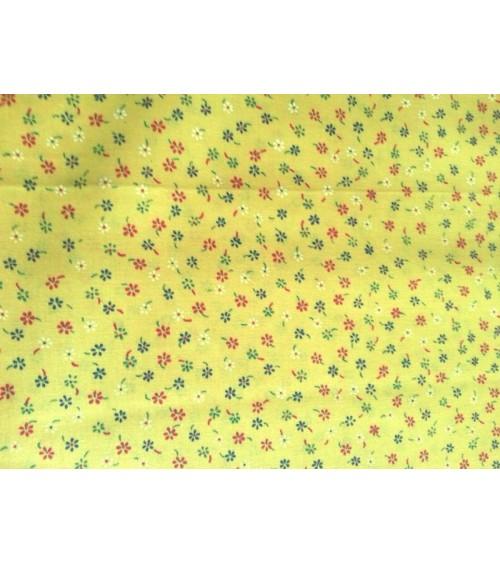 Flower figured linen yellow
