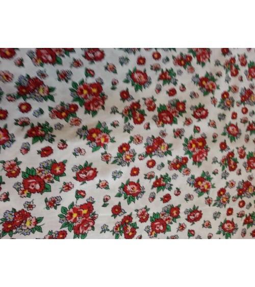 Flower figured linen