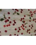 Cherry figured linen