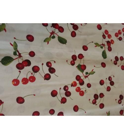 Cseresznye mintás vászon