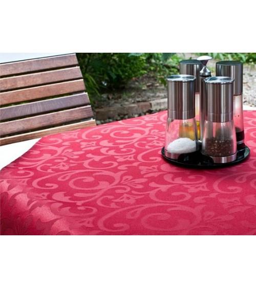 Wine figured teflon round table cloth