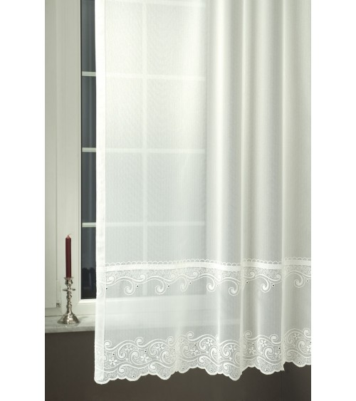 Alex embroidered sable curtain 180 cm high, made