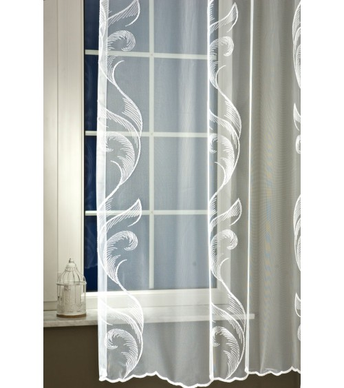 Cola embroidered organza curtain 200 cm high, made