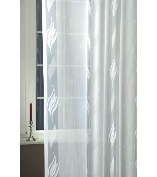 Hanna croppedt half-organza curtain 220 cm high, made