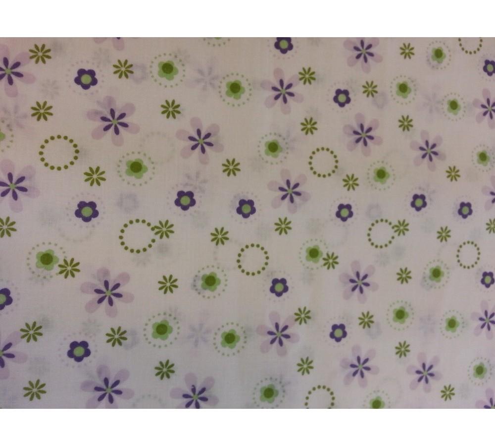 c87771e070 Lila apróvirágos, zöld karikás vászon