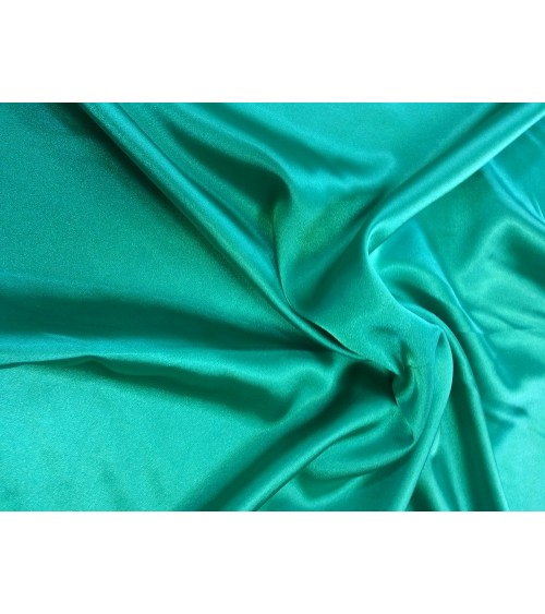 Turquoise green strech satin