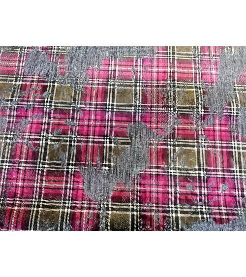 Square figured strech jeans textile