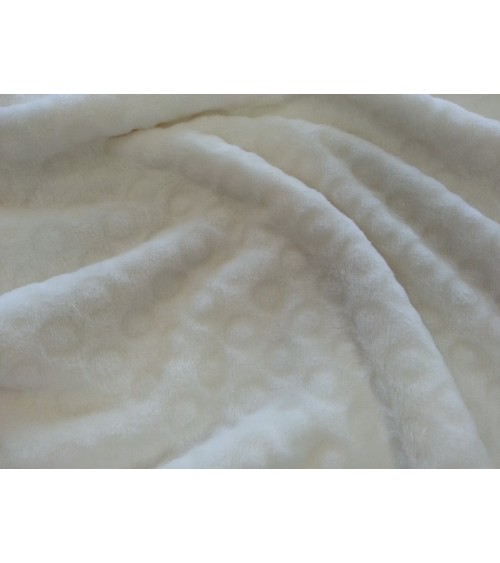 Cream-turquoise heart figured soft bedcover material
