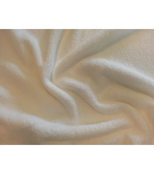 Fehér kétoldalas frottír anyag