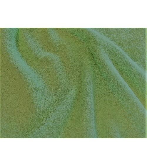 Halványzöld színű  kétoldalas frottír anyag