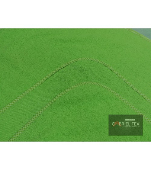 Kiwi green two sided terry blanket