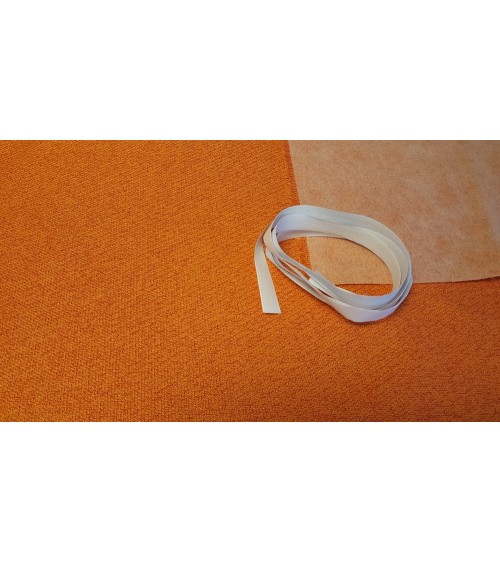 Orange woven wallcover