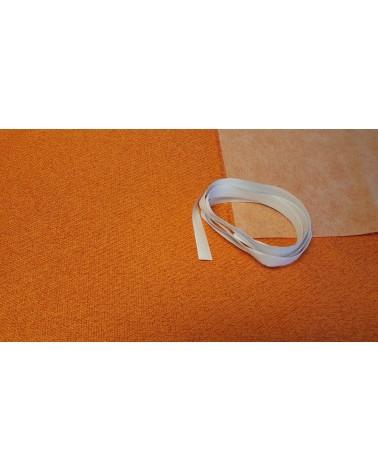 Orange woven wallcover