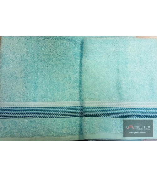 Stripe figured turquoise towels