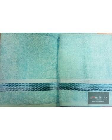 Stripe figured turquoise towels