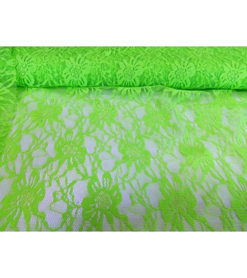 Neon green lace