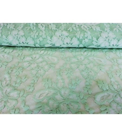 Pale green lace