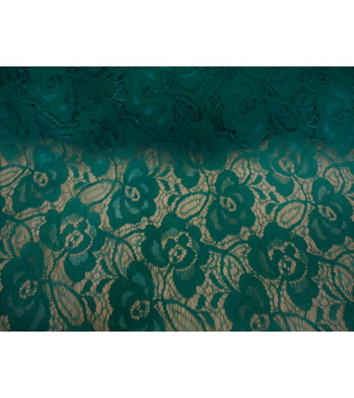 Turquoise green lace