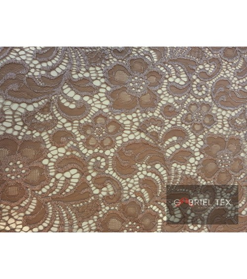 Light brown flower figured lace