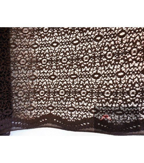 Chocolate brown knitted effect lace