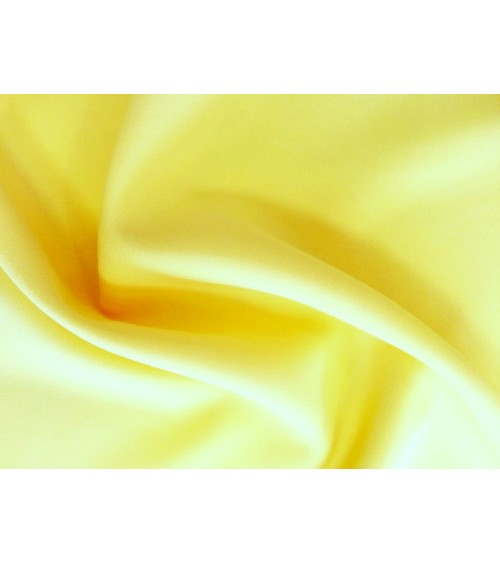 Lemon yellow panama fabric