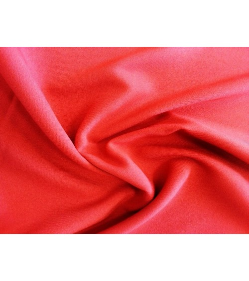 Red panama fabric