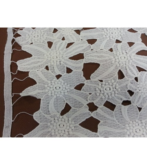 White embroidered casual lace