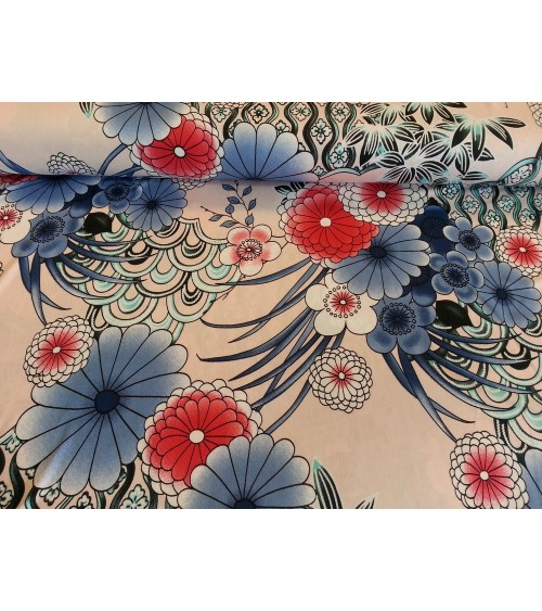 Kékvirágos sztrech jersey