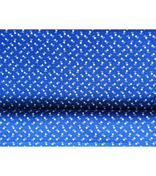 Virágos kékfestő vászon