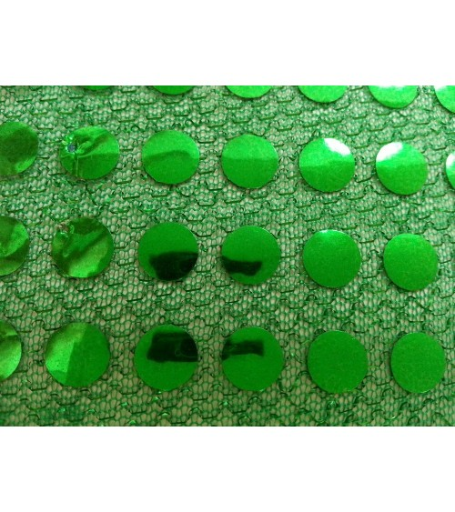 Zöld alapon - zöld  flitteres anyag