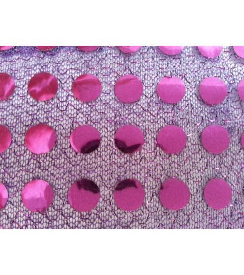 Lila-pink  flitteres anyag