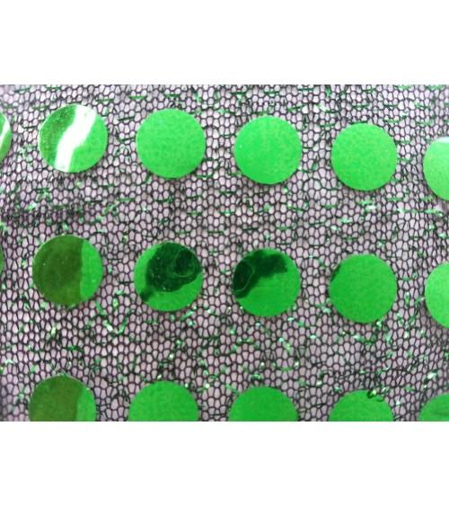 Fekete - zöld  flitteres anyag