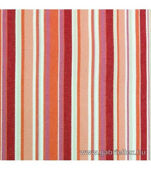 Kékes M9-7 korall striped outdoor furniture textile