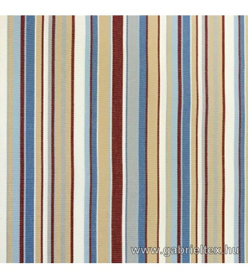 Kékes M9-10 red-blue-beige striped outdoor furniture textile
