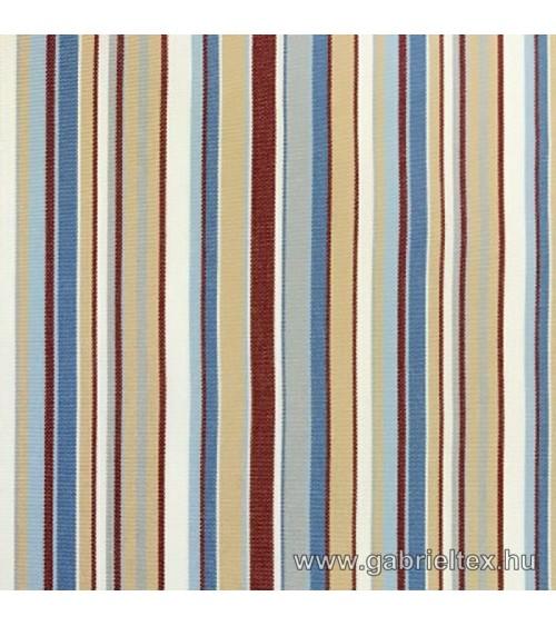 Kékes M9-10 red-blue-beige striped outdoor furniture textile