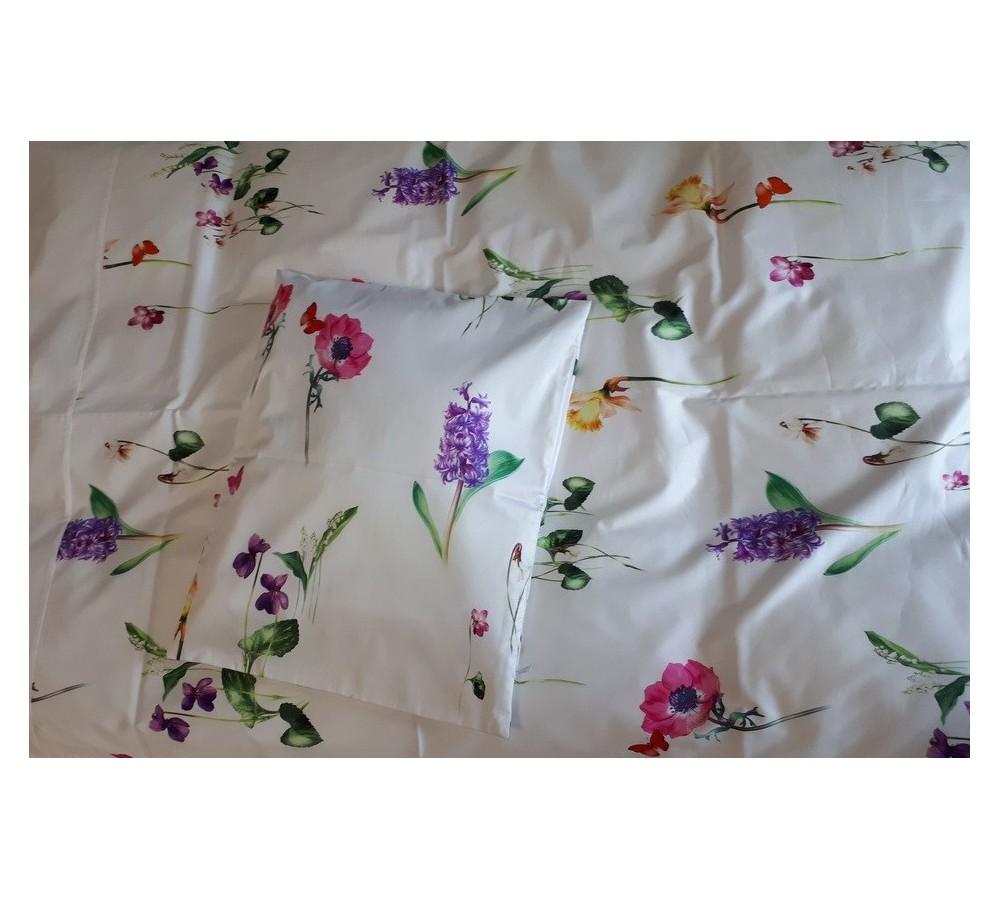 Színes virágos pamutszatén ágynemű 383fd5a818