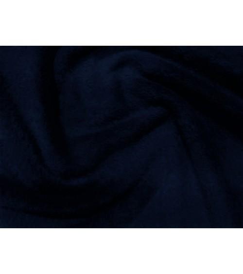 Sötétkék   színű  kétoldalas frottír anyag