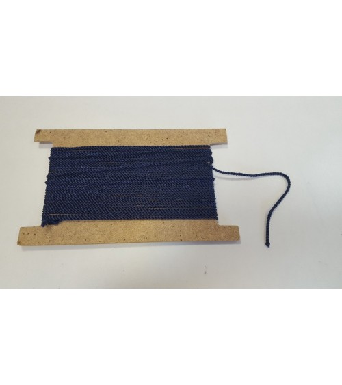 Dark blue spuned string