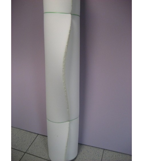 2 cm vastag 30-as, fehér színű szivacs, 140x200x2 cm-es