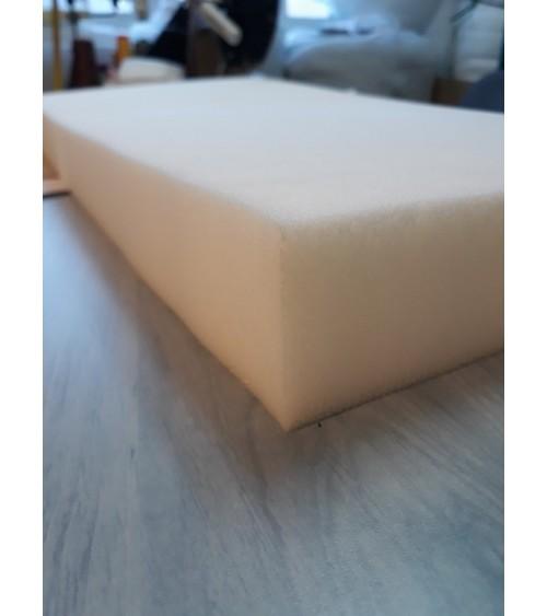8 cm vastag 30-as, fehér színű szivacs, 140x200x8 cm-es