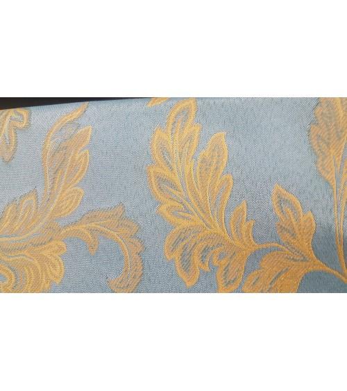 Blue figured textile