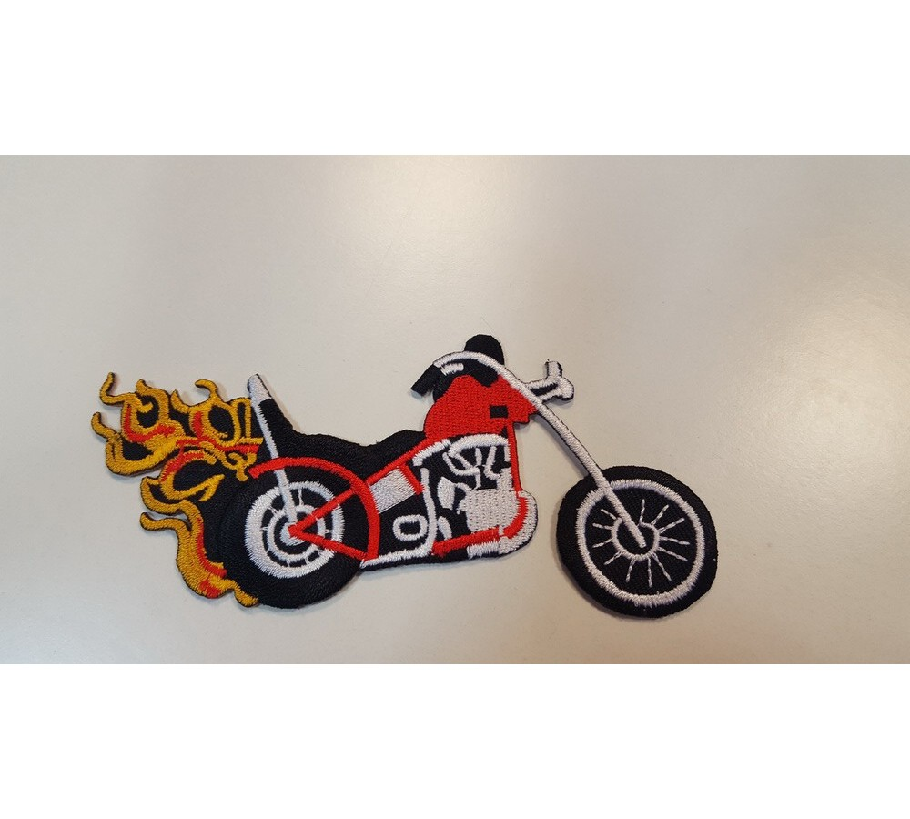 Motorcycle label, patch for kids