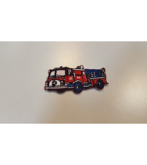 Fire truck label, patch for kids
