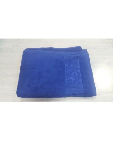 Figured king blue towels