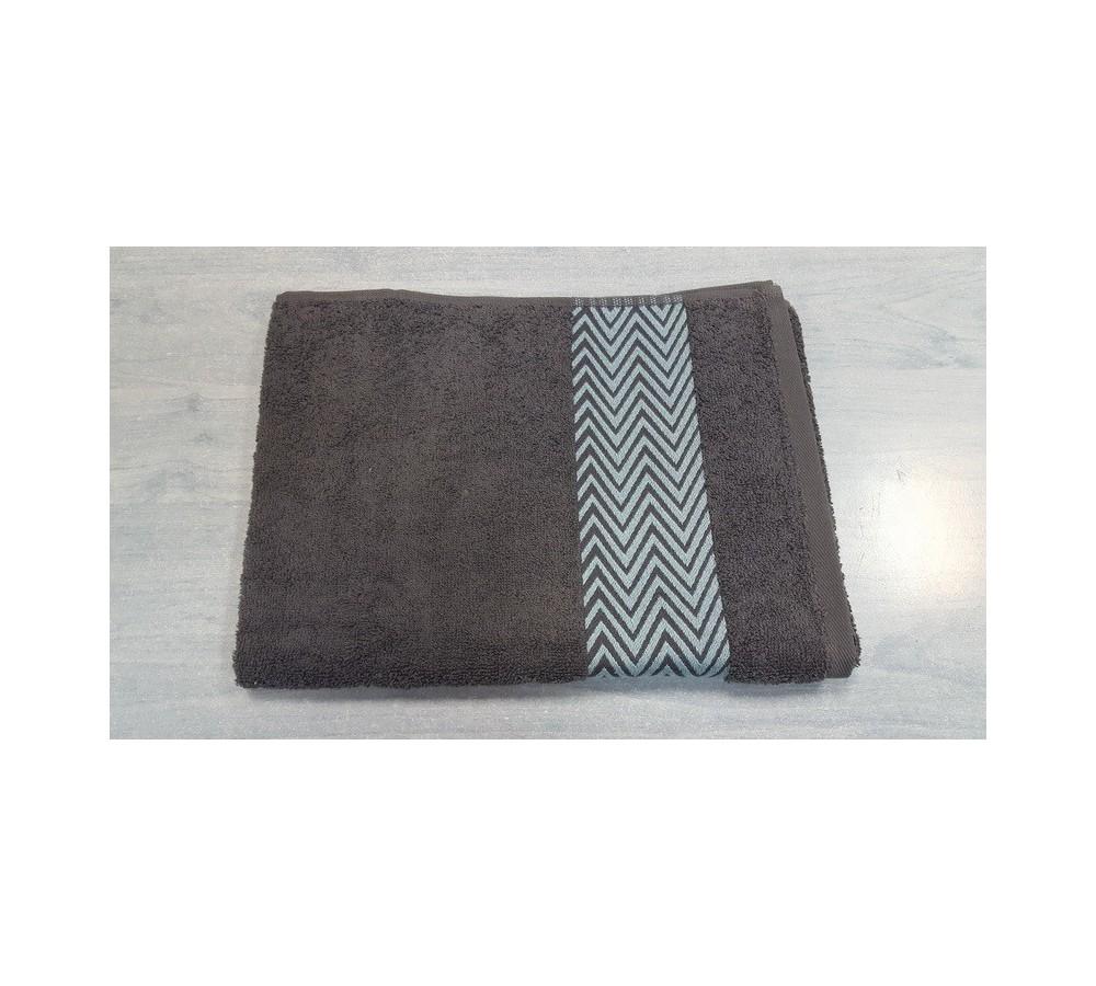 Grey line figured towels