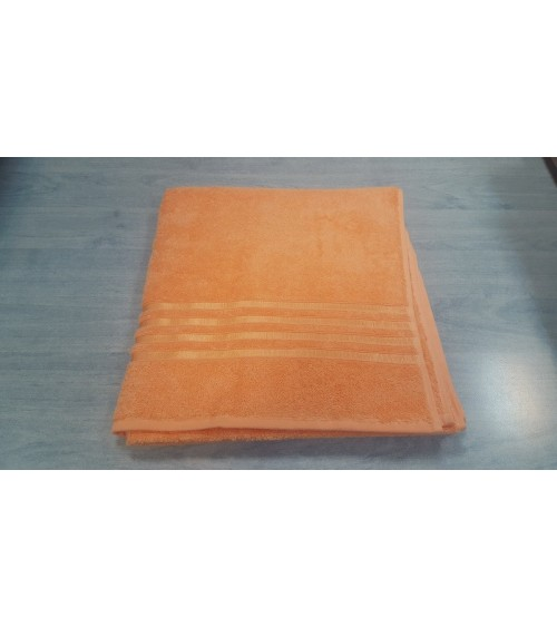 Orange figured towels